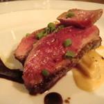 オステリア・バジル - シャラン鴨と長葱山羊チーズソース