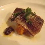 オステリア・バジル - 炙り秋刀魚と南瓜のピューレ