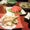 や起 - 料理写真:アサリの酒蒸し、トマトスライス、ワカサギの天麩羅