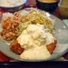 しゃちん房 - 料理写真:よくばりランチのチキン南蛮とから揚げ