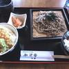 蕎亭松庵 - 料理写真:ミニ天丼セット(ざる蕎麦)