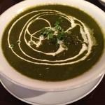 クーシ - 料理写真:ほうれん草チキンカレー