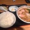 はじめちゃん - 料理写真:ラーメンもつ煮定食  750円