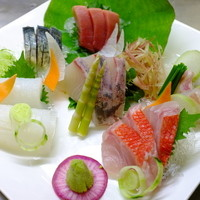 天然鮮魚五種盛1人前