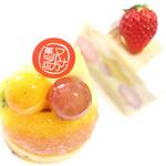 マルナカ菓子店 - 料理写真:フルーツタルトとフレジエ '14 2月中旬