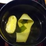 せんなり亭近江肉 橙 - 御吸物
