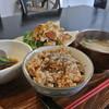 玄米ごはん カフェ じょじょ - 料理写真:ごはんセット(Aセット)お肉かお野菜のいずれかを日替わりで