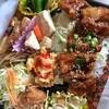 クック・チャム - 料理写真:今日のお昼は『クックチャム』の弁当で。580円でこんな豪華なのがあったんだけど、どういう計らいなんだろ?