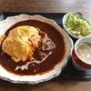 ソラリ - 料理写真:デミグラオムライス煮込牛ラバ肉 680円