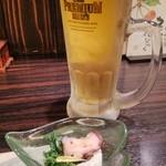 徳島魚一番 新 - 先ずはビール