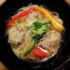 阿波や壱兆 - 料理写真:鶏しいたけ団子の甘酢温めん