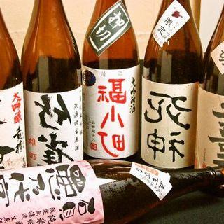 利き酒師厳選日本酒&焼酎と八海山生ビールあります。