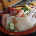 鮨 糀谷 - ちらし寿司ランチ1.5人前 1,000円 2014.01