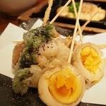 咲くら - ●天串盛り合わせ いろいろな種類の串揚げ系が食べれました。
