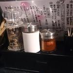 麺屋永吉 花鳥風月 - 麺屋永吉 花鳥風月 @中葛西 卓上調味料類