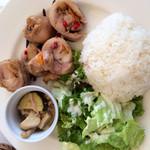 アオヤマ キナ - ランチ、鶏ももとカポナータのロートロ