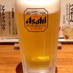 讃岐うどん四八 - ドリンク写真:吹田市内で出されるには殆どアサヒのスーパードライ