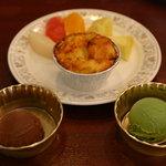アスター - キッシュ、 アイス2種(チョコ、抹茶)