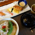 江戸政寿司 - 握りとミニ丼(¥980)