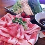 ばかたれ家 - 豆乳豚しゃぶ坦々鍋