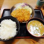 チキン亭 - ロースかつ&ヒレかつ定食+豚汁