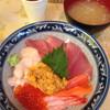 みなとや  - 料理写真:うに海鮮丼 \1100+みそ汁 \50