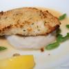 BONDI CAFE - 料理写真:旬魚の香草パン粉焼き マッシュポテト添え、   ヒュメドポワソンバターソース【2013年10月】