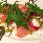 イタリア食堂&バル KIKUCHIYA - 生ハムのサラダ