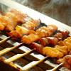 鳥彩々 - 料理写真:越の鶏 焼き鳥10本160円~