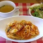 25714159 - プチレストラン JEAN D'AILE @葛西 ランチ スパゲッティ 910円(税込)