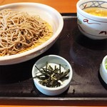 和食さと - 料理写真:蒸し鶏のさっぱりつけそば 961円+コーヒー162円 計1123円