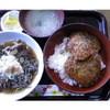 鉄板ハンバーグ&ステーキ fu - 料理写真:カツと、小さなお蕎麦のセット。