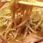 バリ男 - ネギらーめん:麺アップ