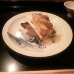 啐啄 つか本 - 蒸しアワビと焼き松茸のユズジュレがけ