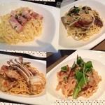 セッテ ラ フェスタ - 久しぶりに訪れた生パスタやさん♡4人で4種類分けて食べました。