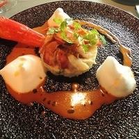 カナダ産オマール海老と季節野菜のリゾット 濃厚なクーリ