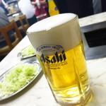 つるや - 生ビール(中)580円