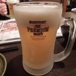 芝虎 - まずはビールで乾杯♪ H26.4
