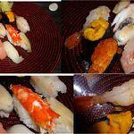 紀州寿し - 特上生ネタ寿司。紀州寿し(札幌市北区)食彩賓館撮影