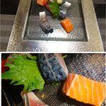 紀州寿し - 刺身3種盛り。紀州寿し(札幌市北区)食彩賓館撮影