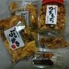 お醤油屋さんのおせんべい本舗 - 料理写真:ぶっかき・かきもち・団子2種と試食品