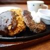ステーキのどん - 料理写真:和風おろしハンバーグ & ポークカツ デミソース 730円。