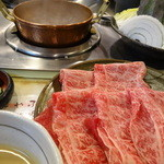 しゃぶ亭 - 上牛ロース定食(1,390円)