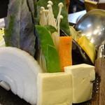しゃぶ亭 - 上牛ロース定食(1,390円)の野菜