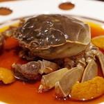 中国料理 仙ノ孫 - 活け上海蟹のカメだし紹興酒漬け