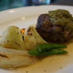 キッチン イトウ スタイル - 国産牛100%のハンバーグステーキ(ライス付)和風ソース レギュラー150g 1,500円