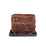 やまもと菓子店 - 竹鶴17年とタラカンのチョコレートケーキの断面  '14 3月下旬