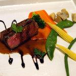 阿蘇 火の鳥温泉 欧風料理宿 ログ山荘 火の鳥 - 夕食 黒毛和牛のステーキ