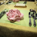 阿蘇 火の鳥温泉 欧風料理宿 ログ山荘 火の鳥 - 夕食の時のテーブル
