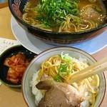 ひゃくてんまんてん - 金曜日:醤油ラーメン500円+ライス130円